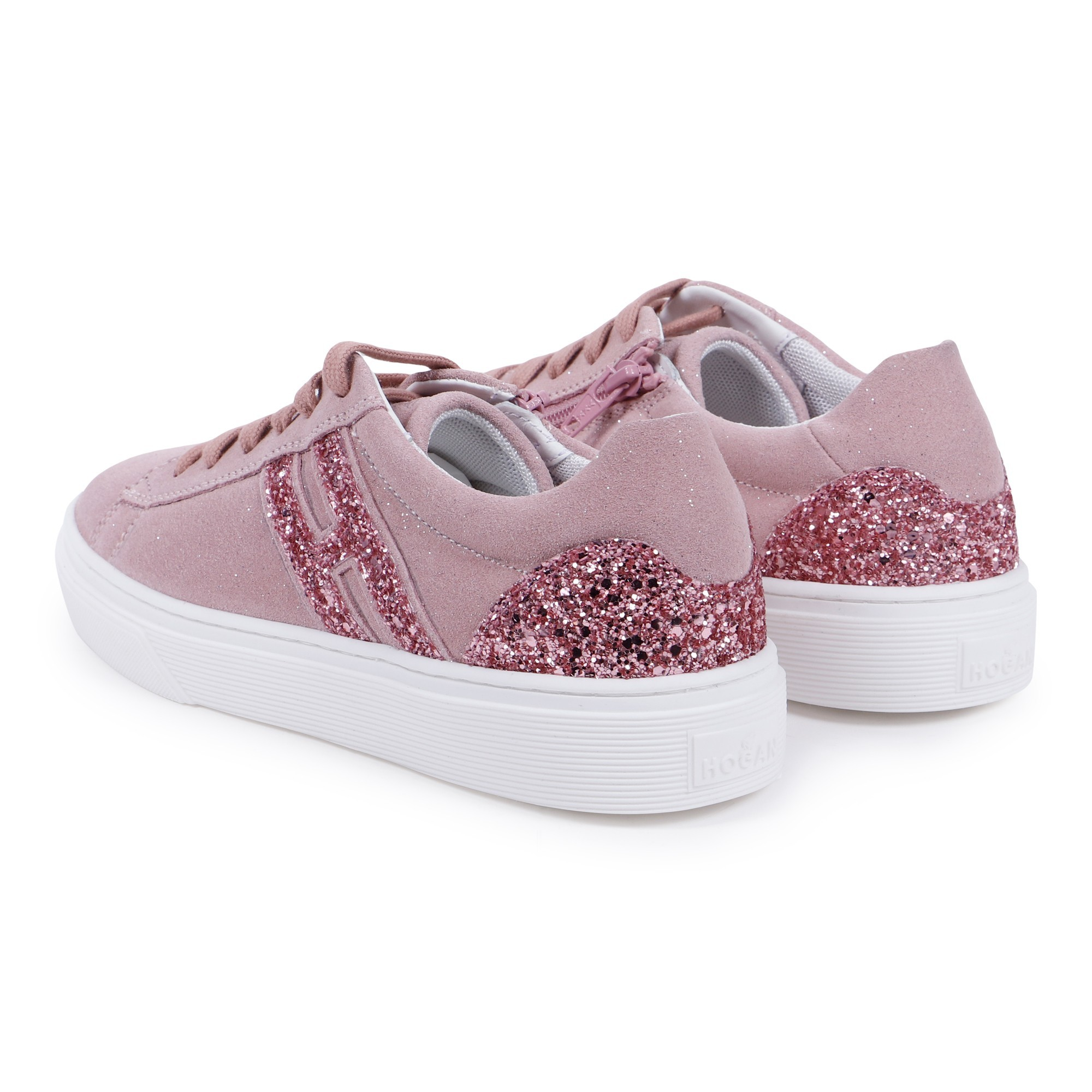 HOGAN GIRLS SHOES CHILD LEATHER SNEAKERS NEW INTERACTIVE PINK 559