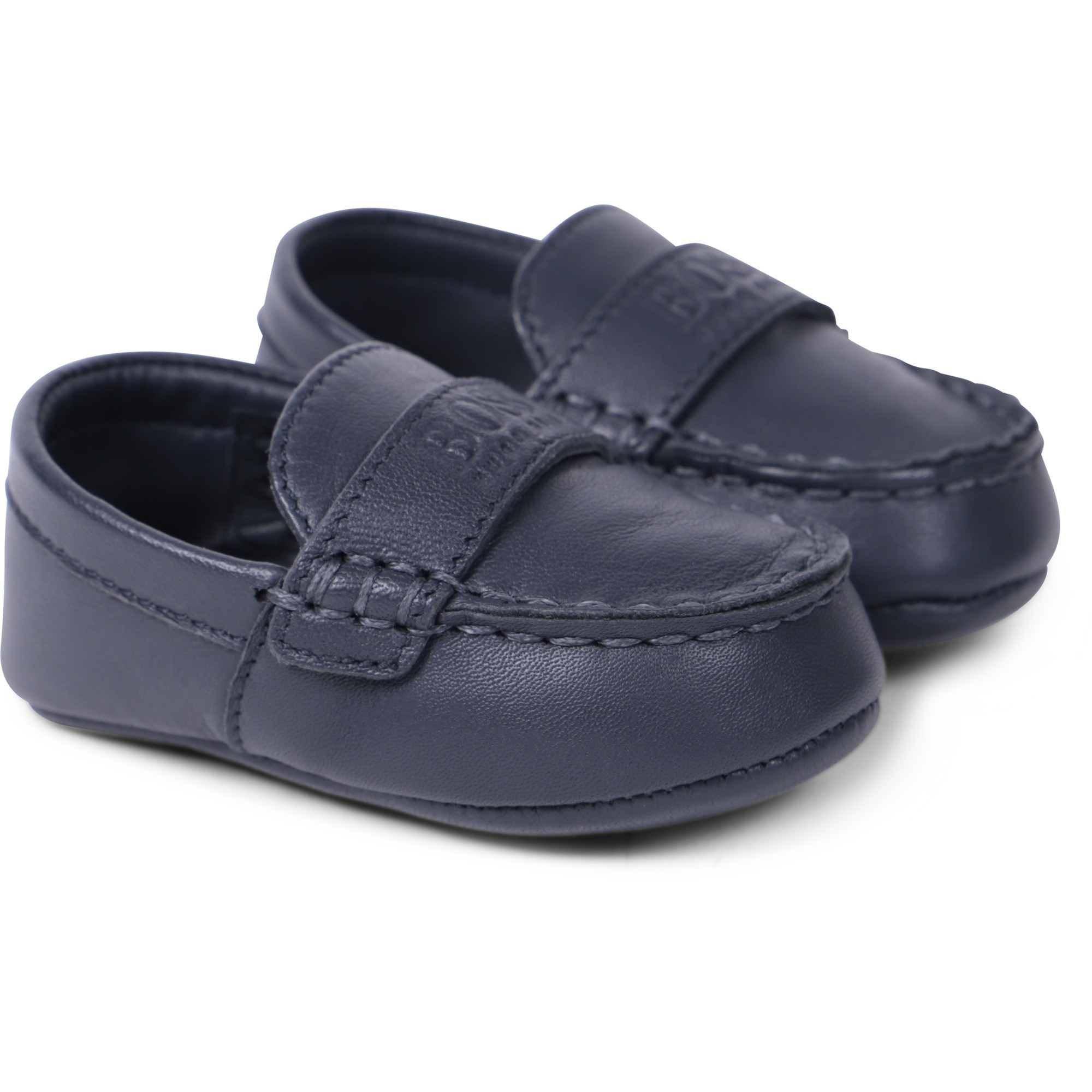 Boss Baby Logo Loafers in Navy