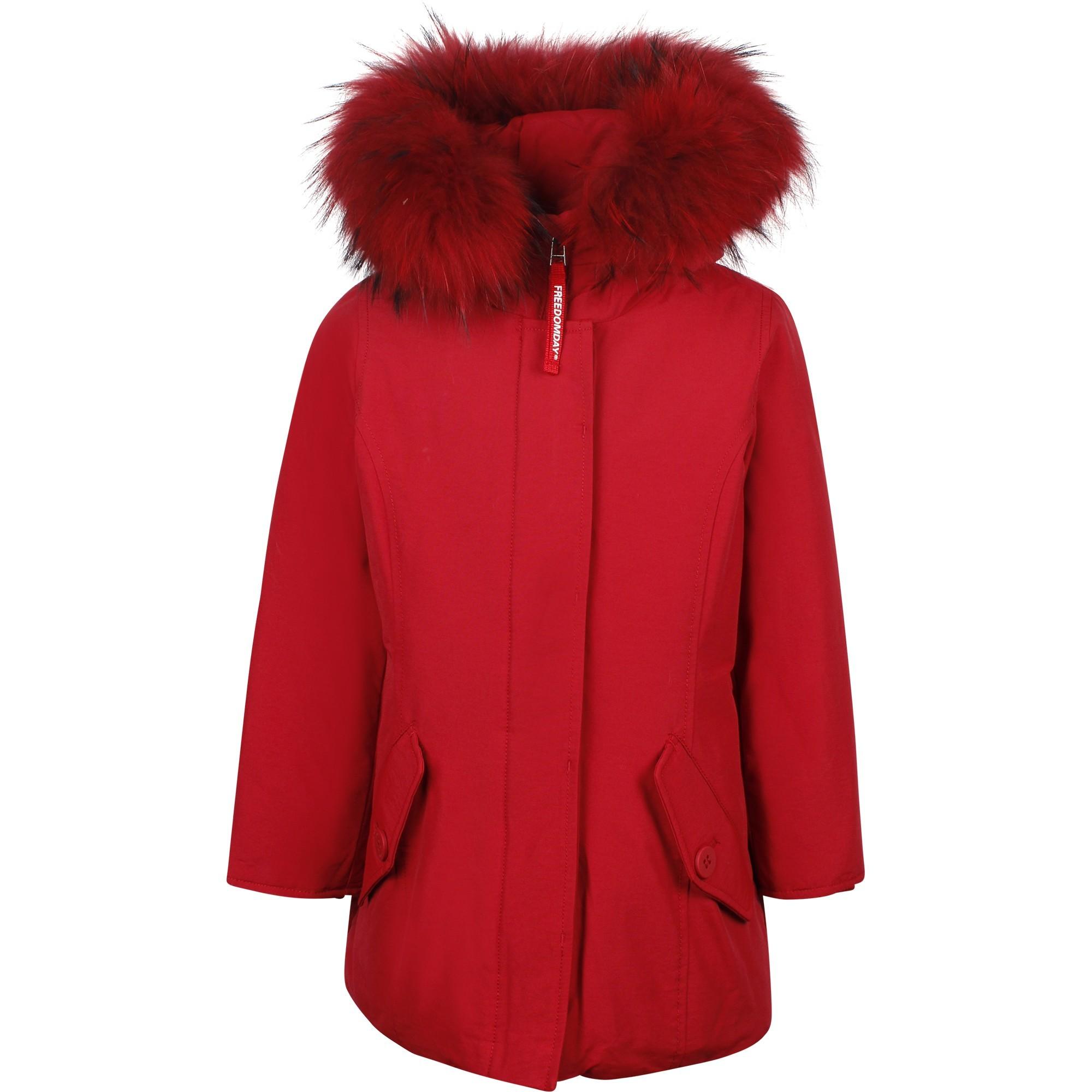 Ladies Red Parka Jacket