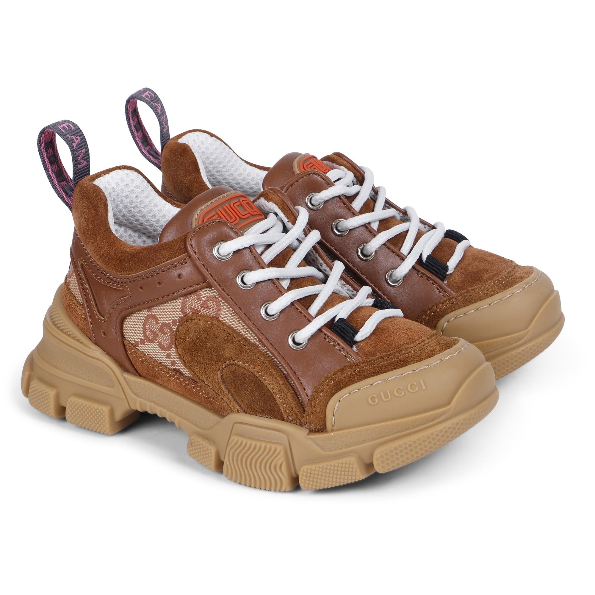Gucci Flashtrek Sneakers in Brown