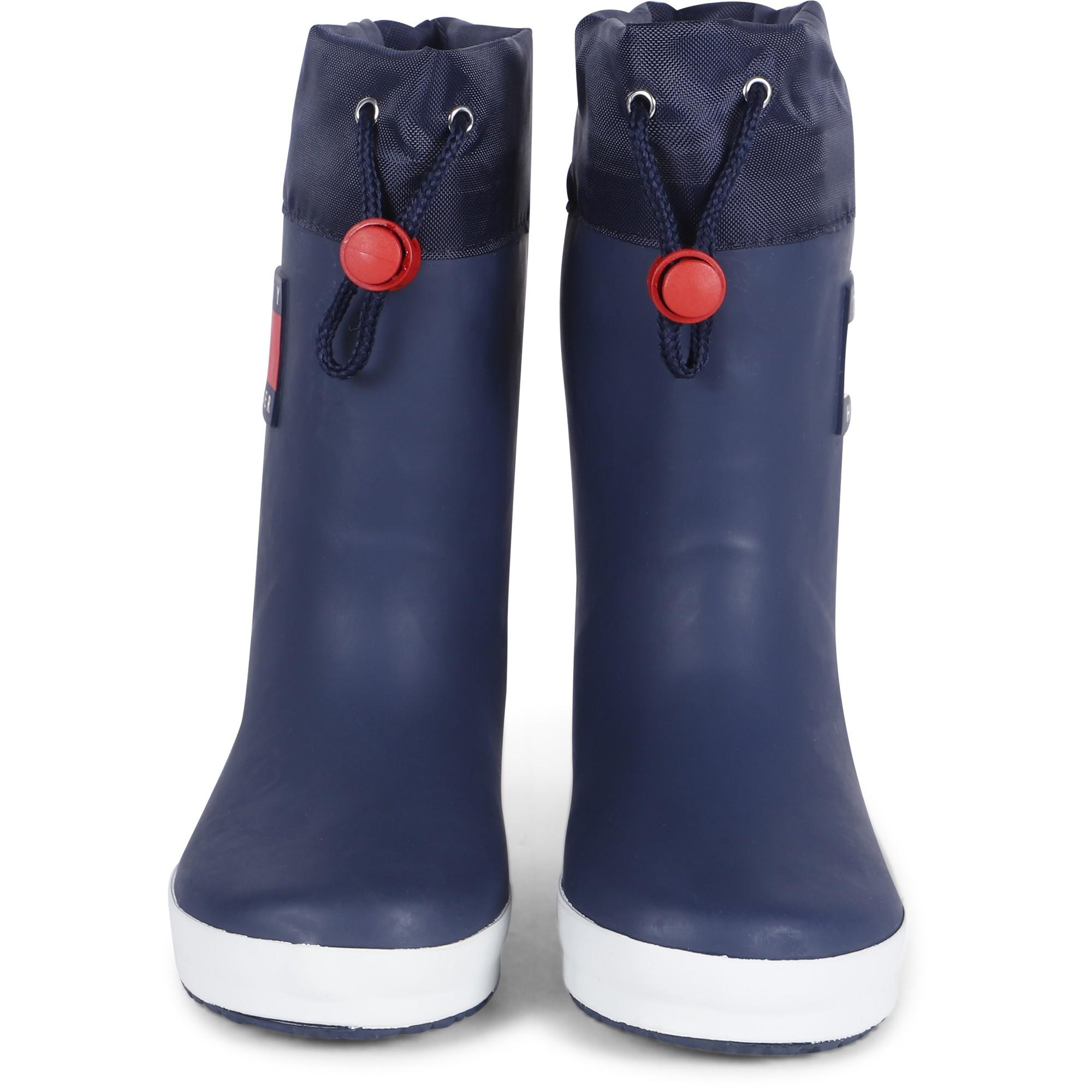 Tommy Hilfiger Logo Rain Boots In Blue - Bambinifashioncom-4887