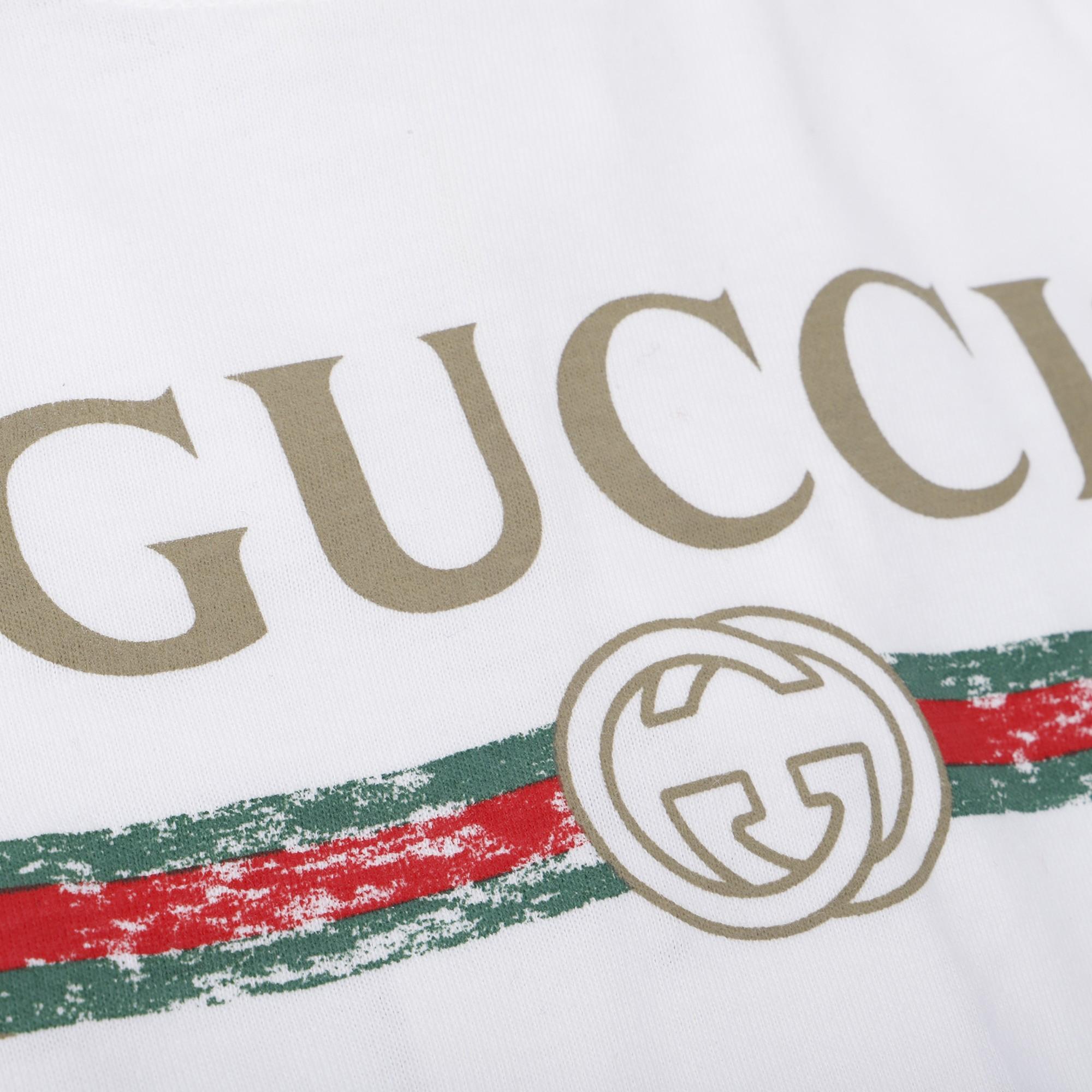 Gucci Baby Retro Logo Onesie In White Bambini Fashion