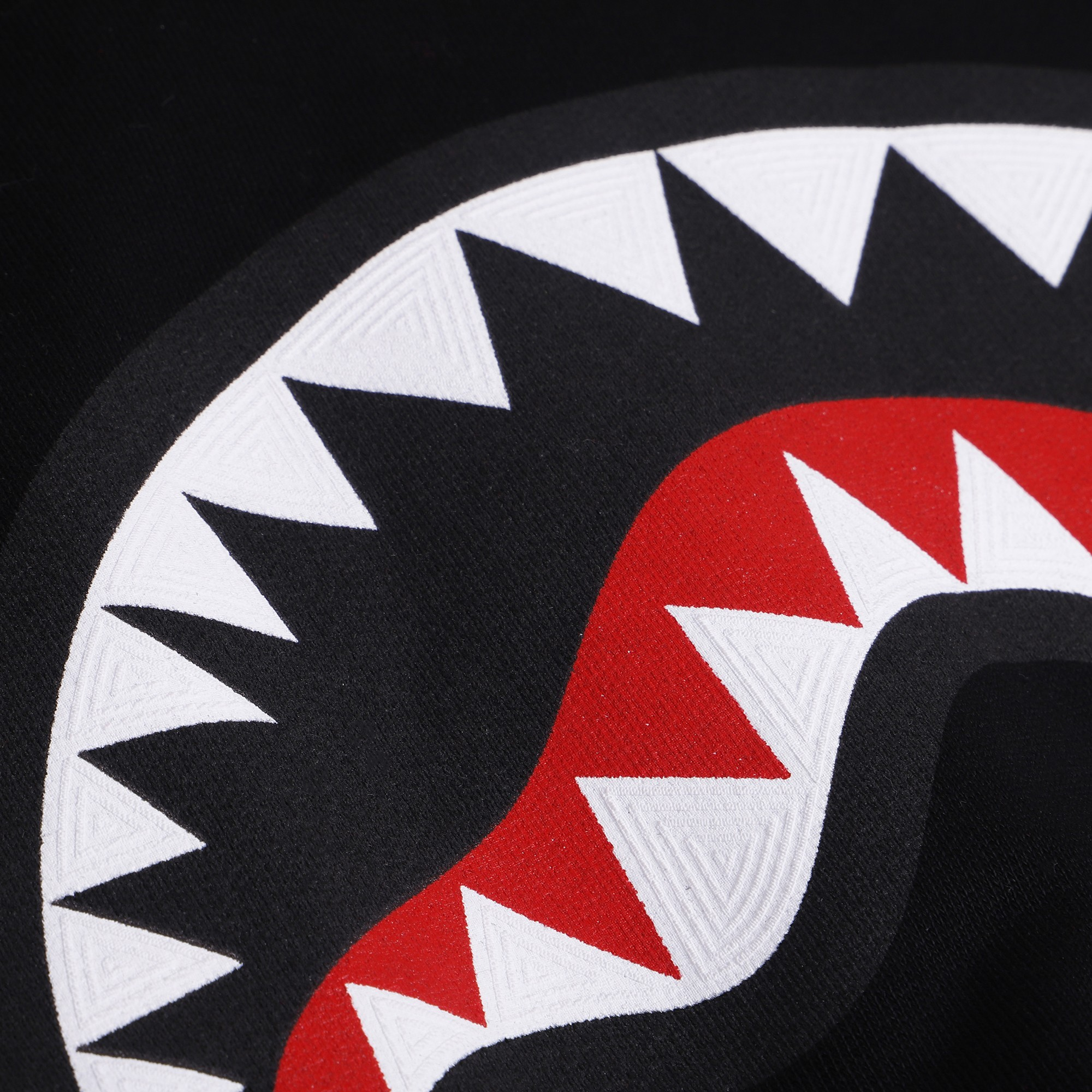 Look Logo: Sprayground Logo Shark Hoodie In Black