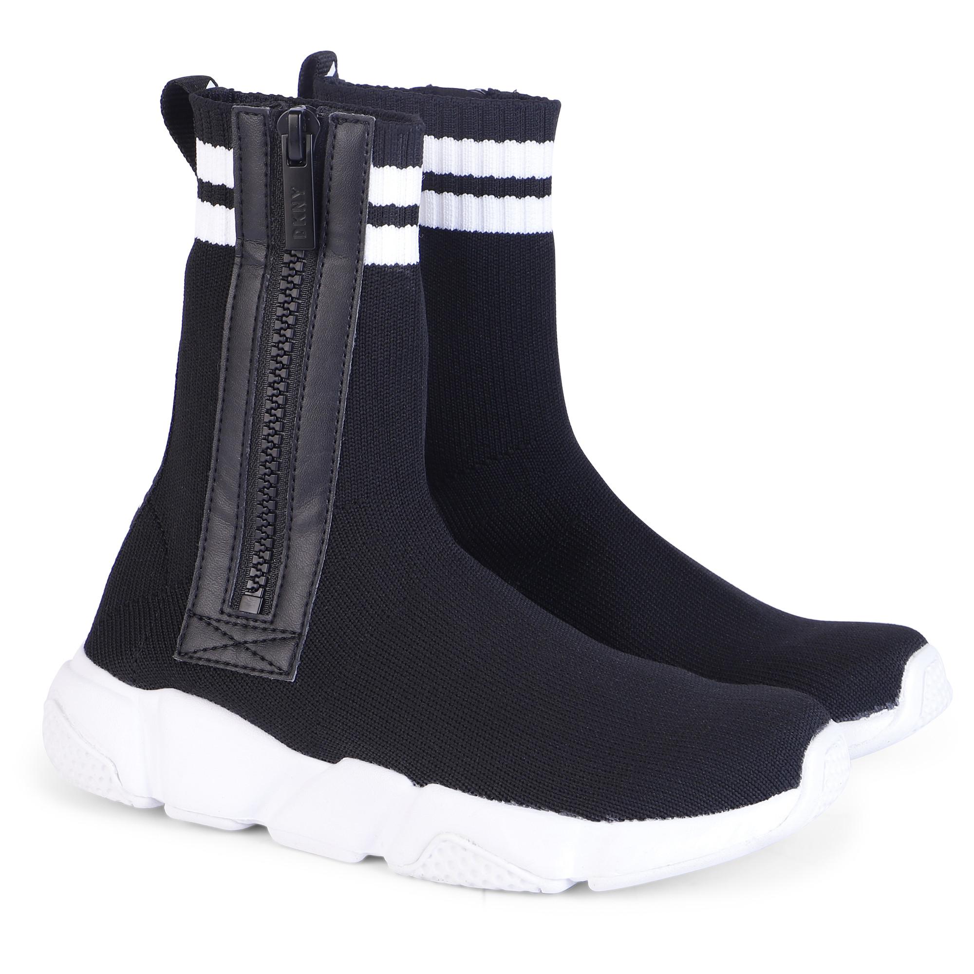 DKNY Logo Sock Sneakers in Black