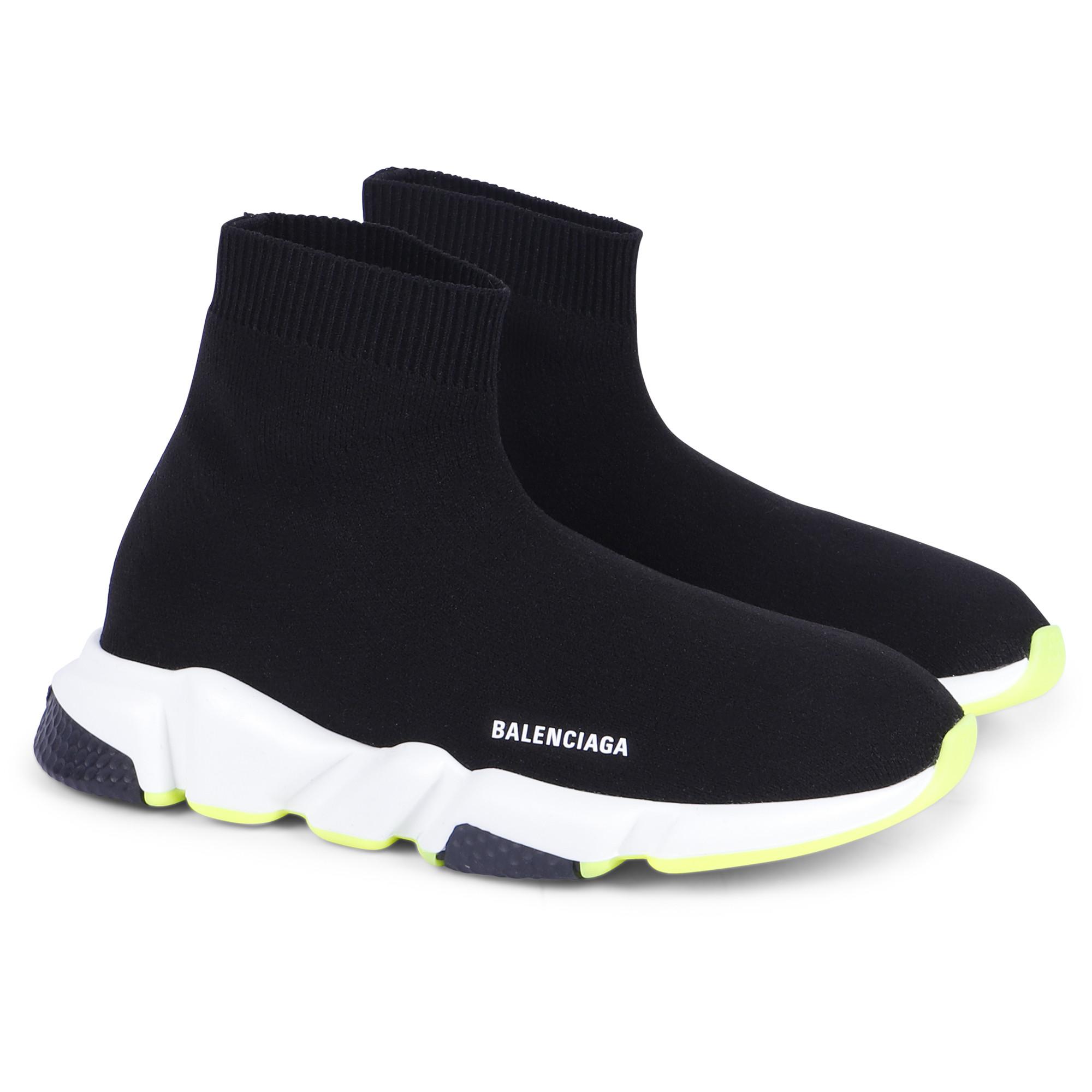 Balenciaga Black Knit Sock Sneakers