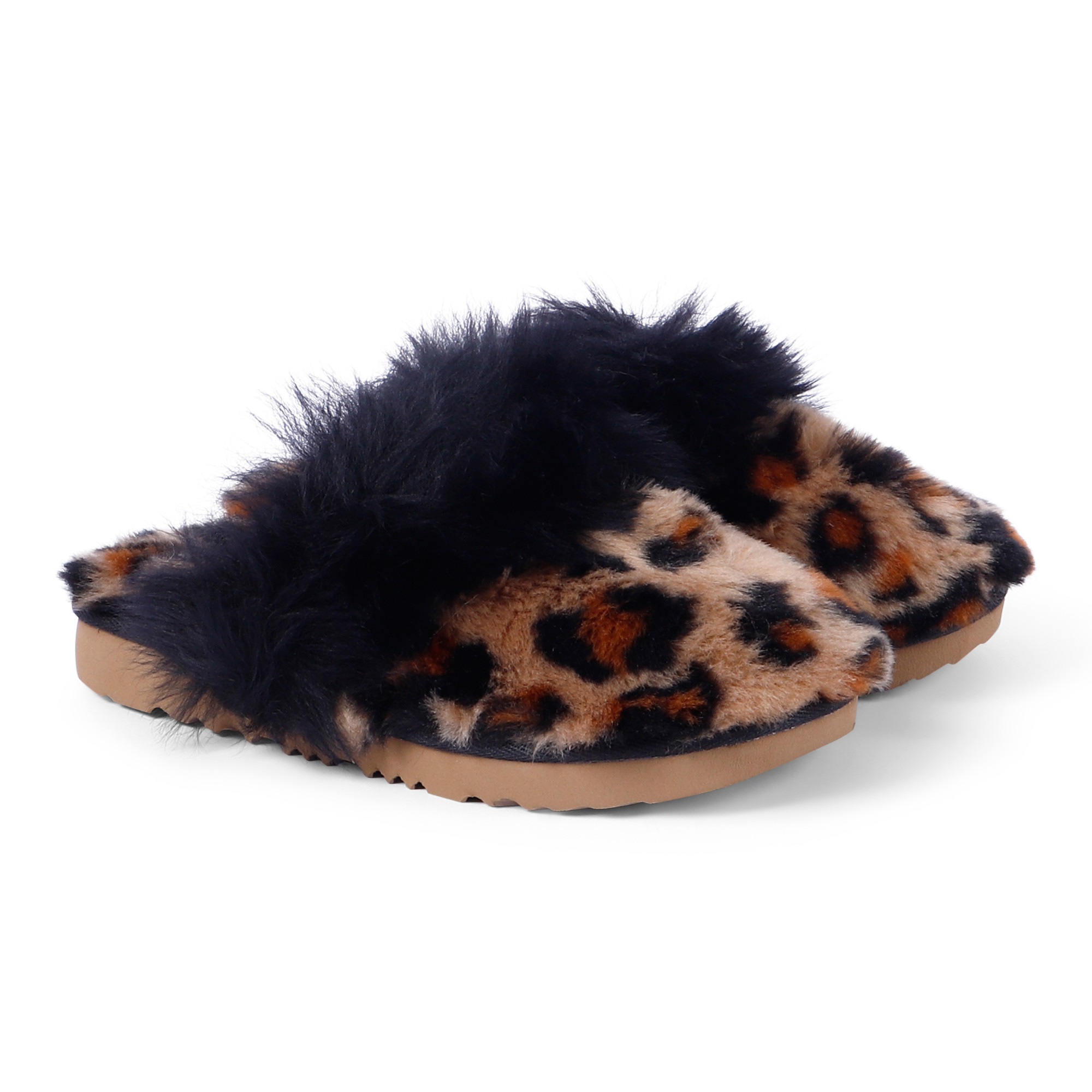UGG Girls Leopard Slippers