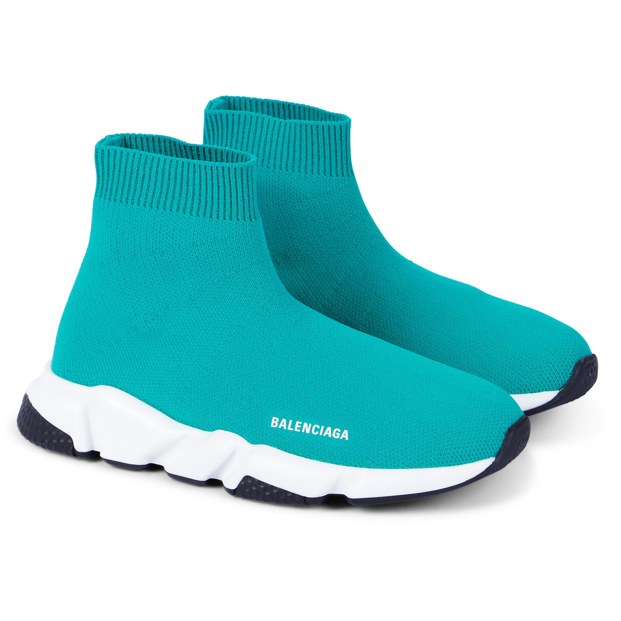 Balenciaga Green Knit Sock Sneakers