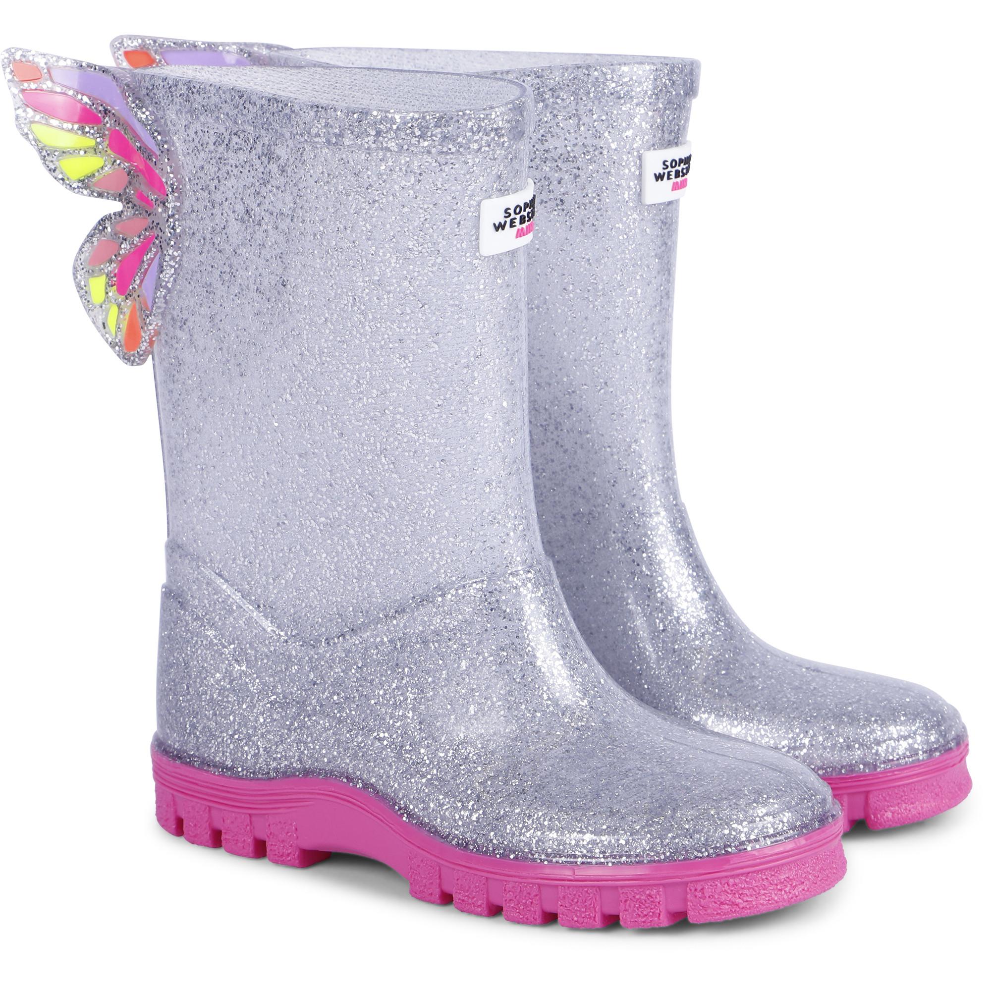 Kids Girls Boys 3D Designe Rain Snow Wellies Wellington Boots NEW