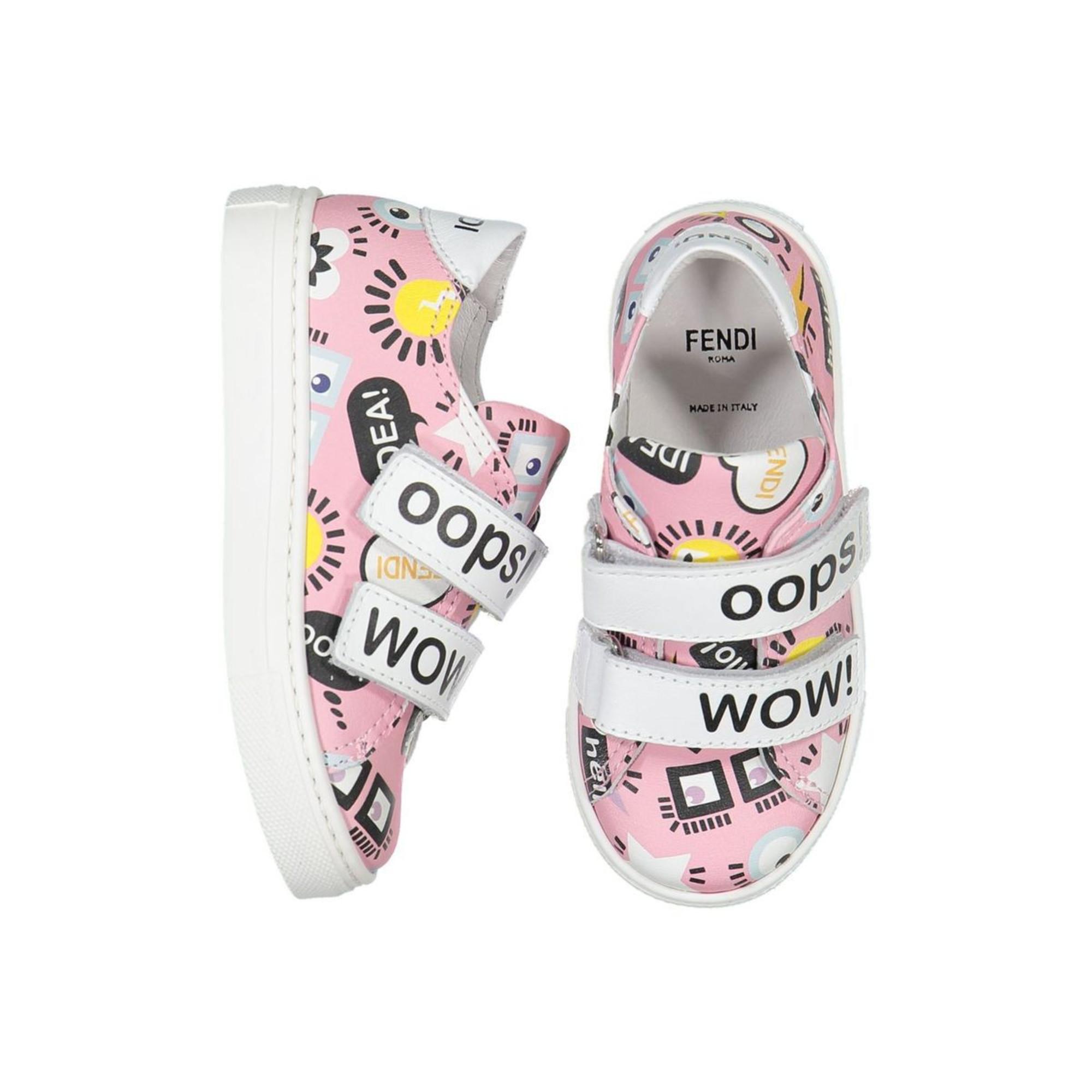Fendi Pink velcro fastening sneakers
