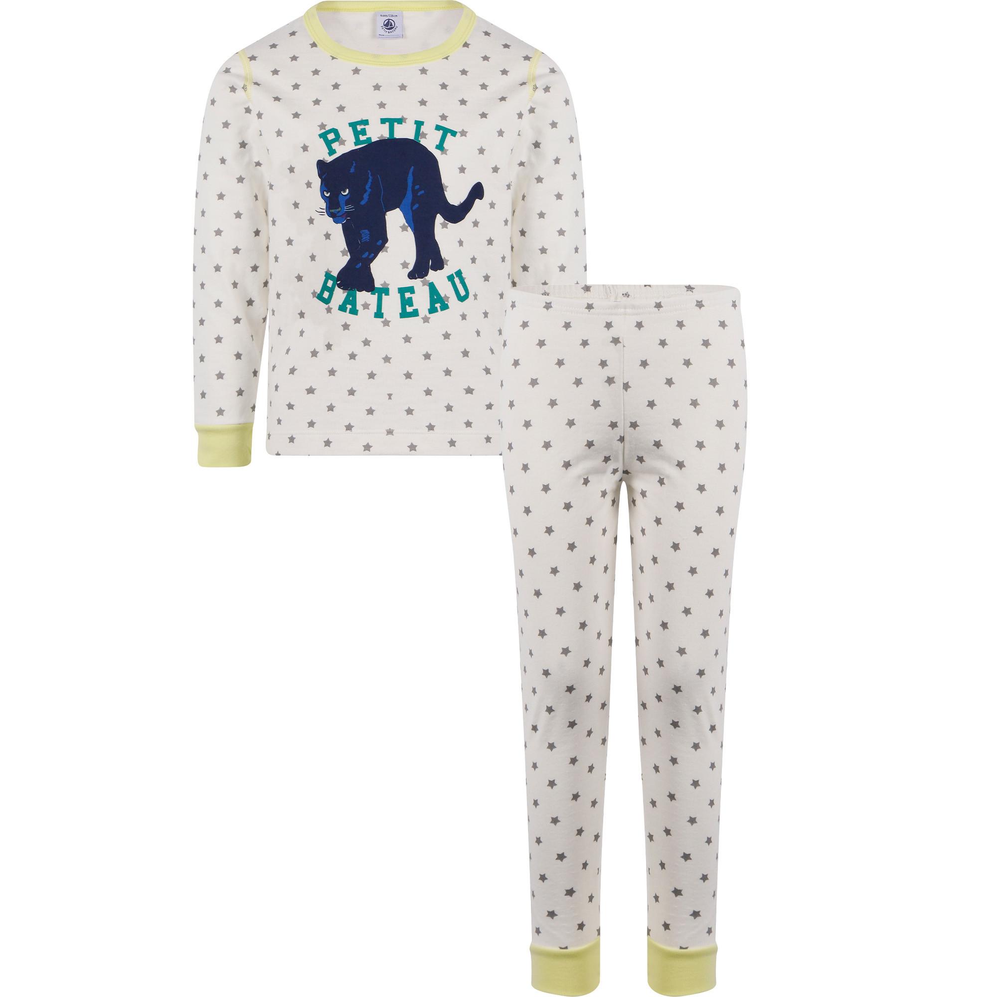 Petit Bateau Puma Logo Pyjamas in White — BAMBINIFASHION.COM