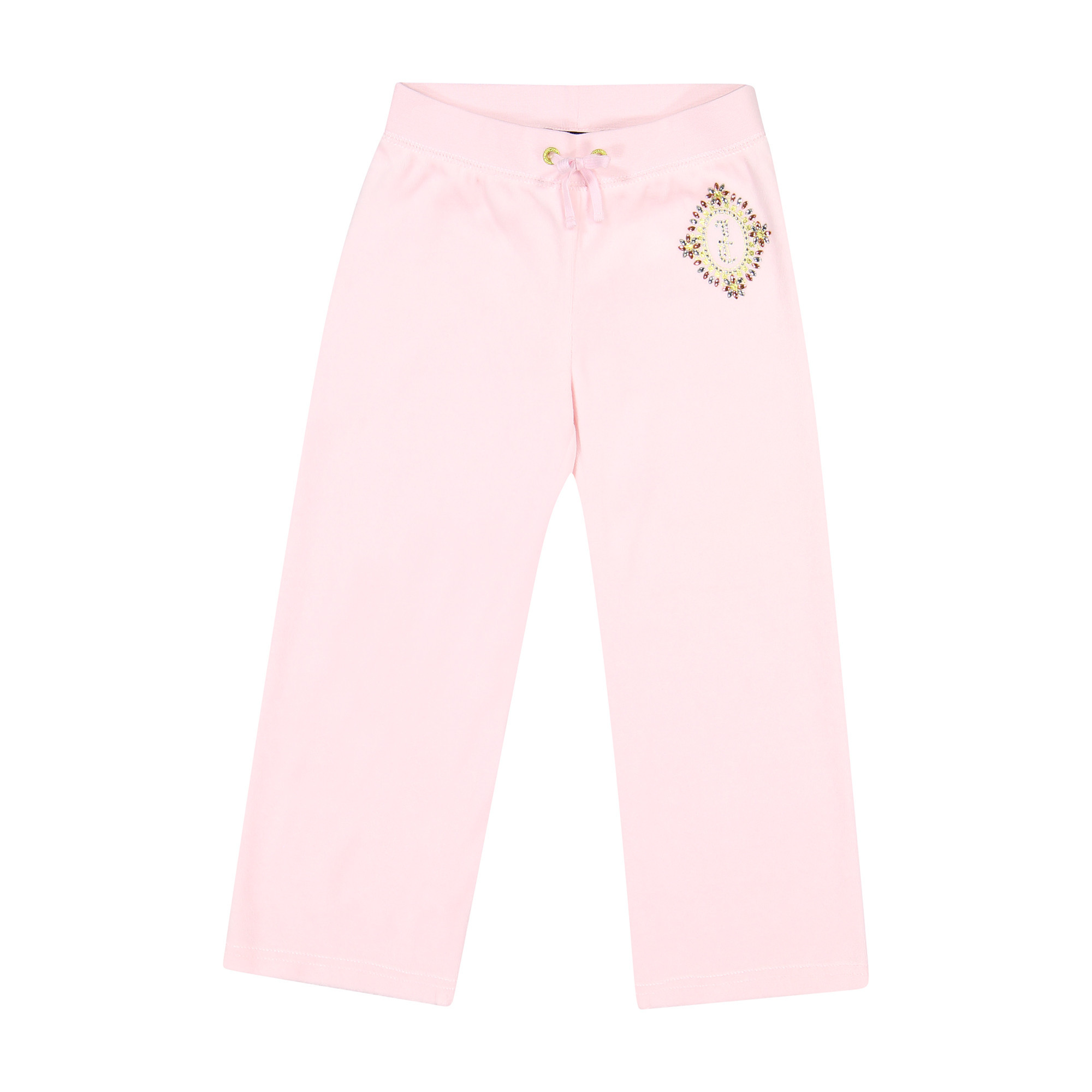 Juicy Couture Girls Velour Tracksuit Pants In Pink With Gold Jc Logo For Girls Bambinifashion Com
