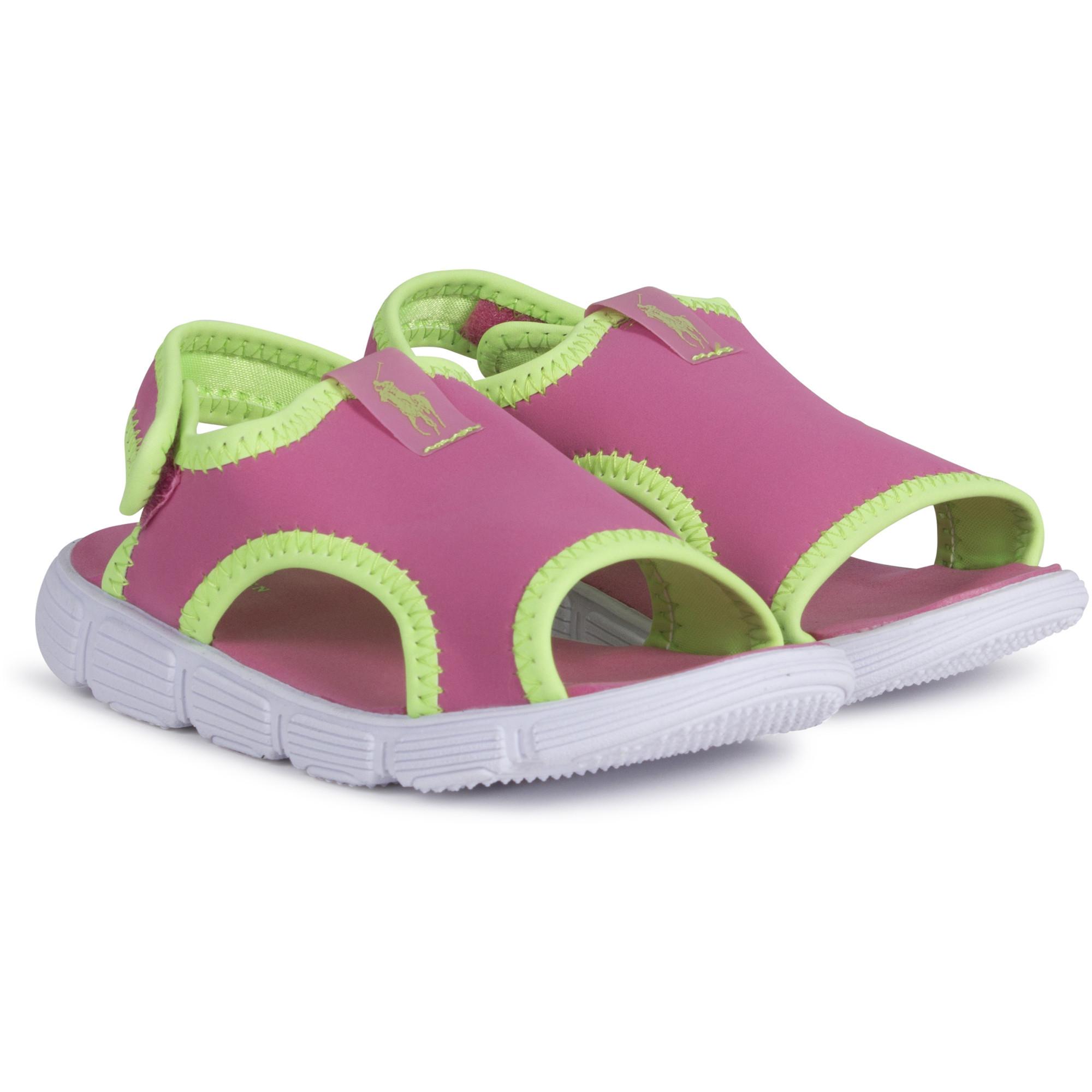 Ralph Lauren Girls Aqua Sandals in Pink