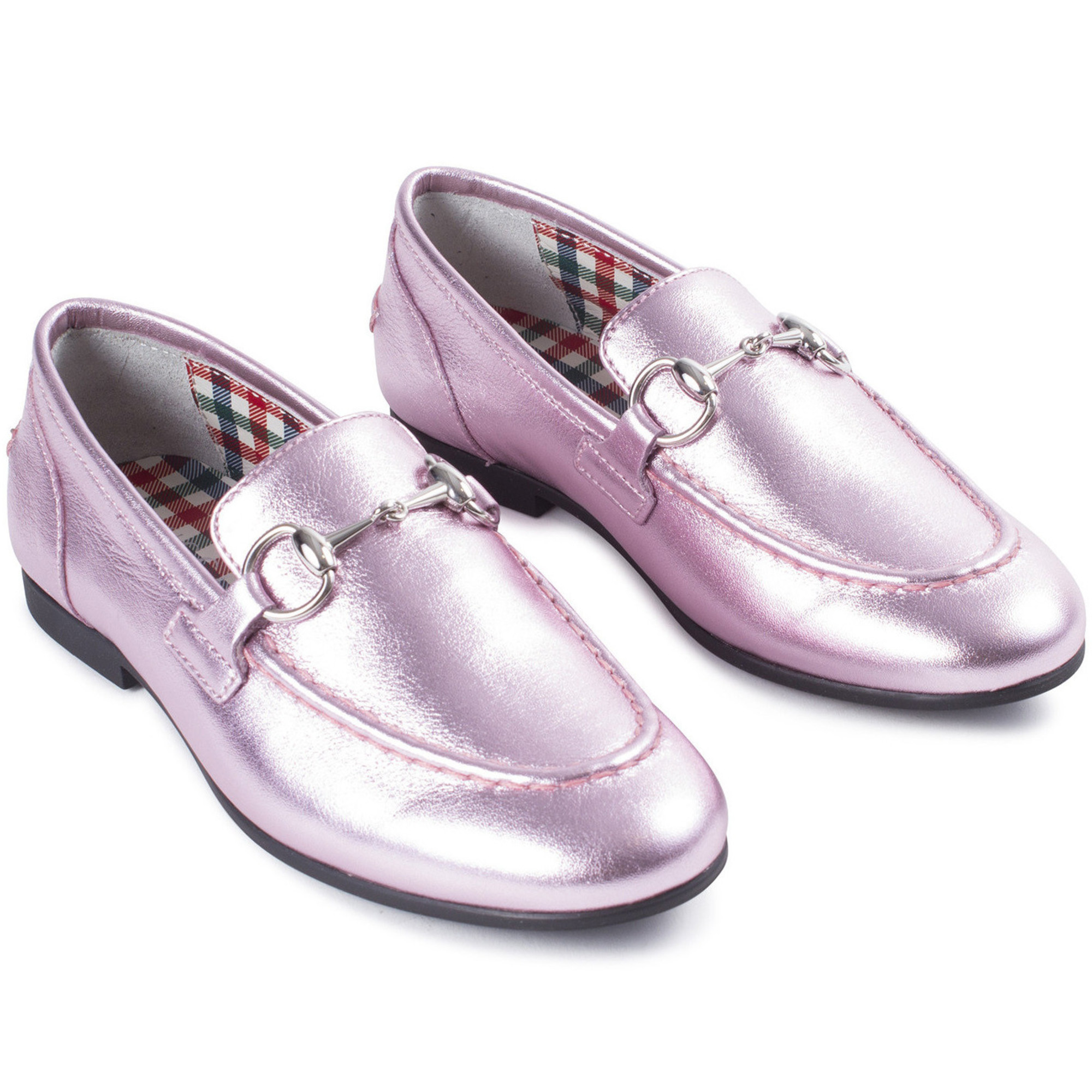 Gucci Girls Snaffle Bit Loafers in Iced
