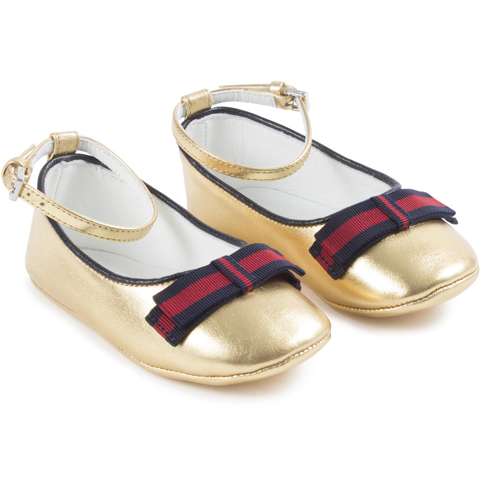 Gucci Baby Ballerina Shoes in Gold with