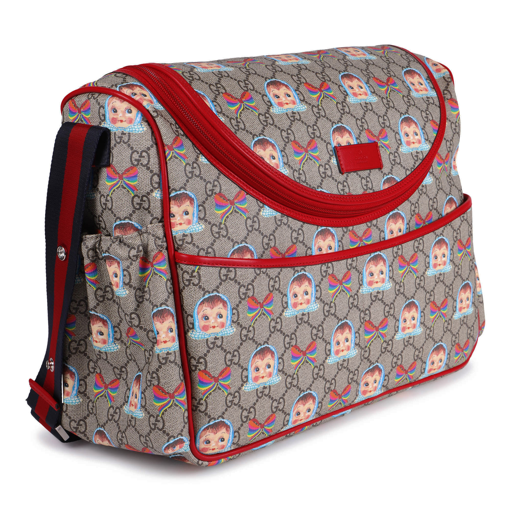 """Gucci Baby """"GG"""" Rainbow and Doll Print Changing Bag ..."""