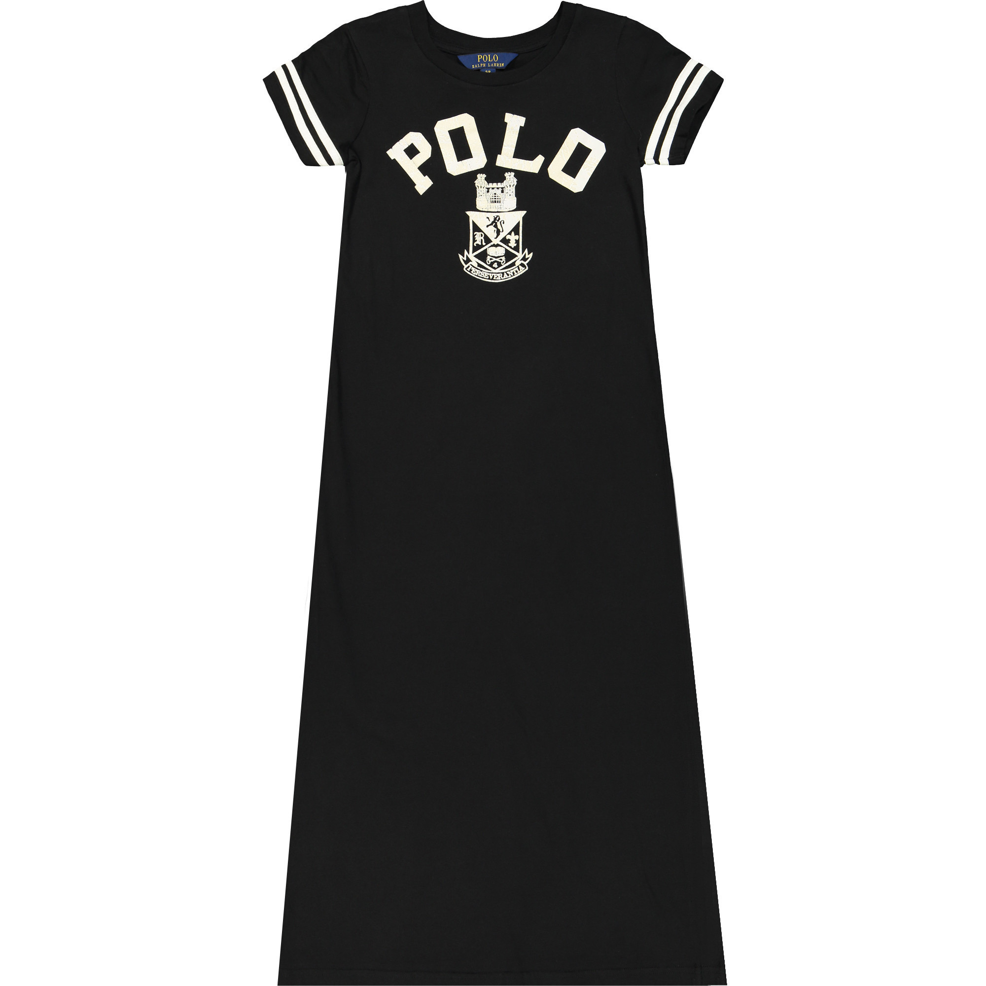 Polo Ralph Lauren Girls Black T-Shirt Maxi Dress — BAMBINIFASHION.COM