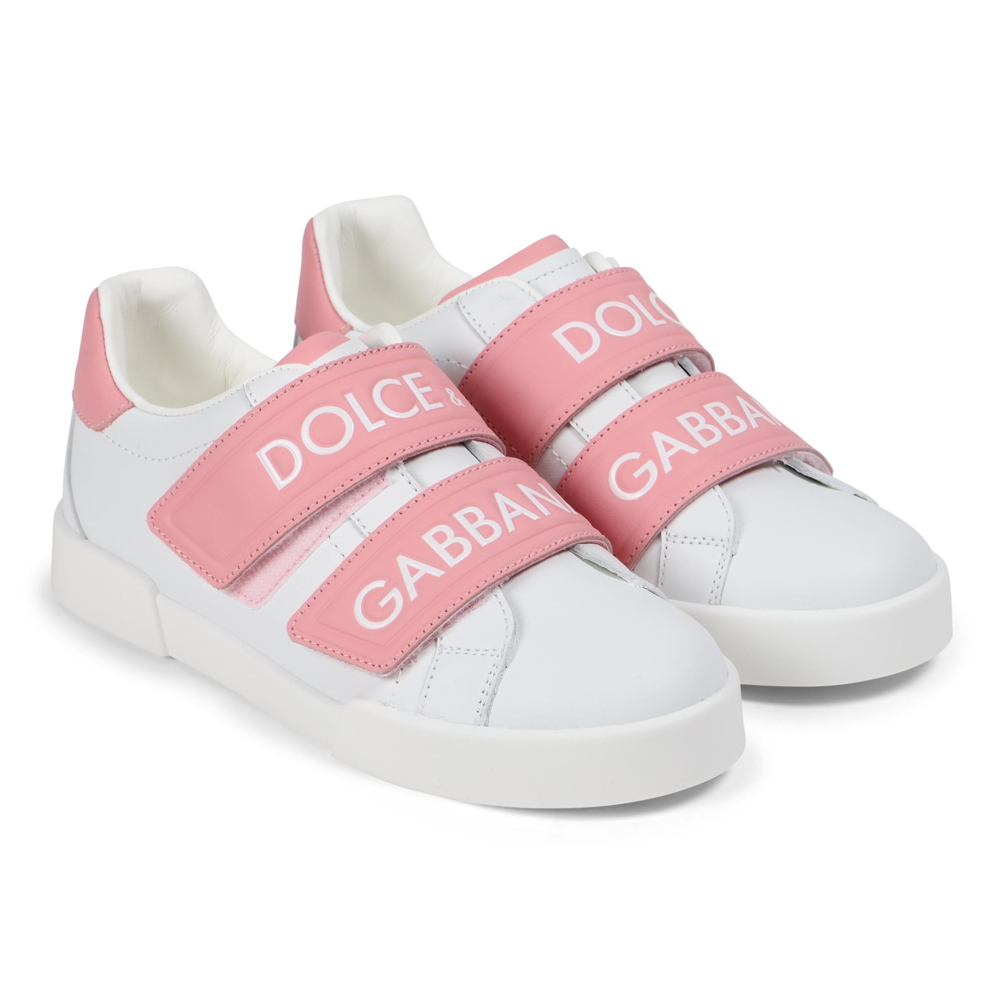 Dolce \u0026 Gabbana Girls Logo Velcro