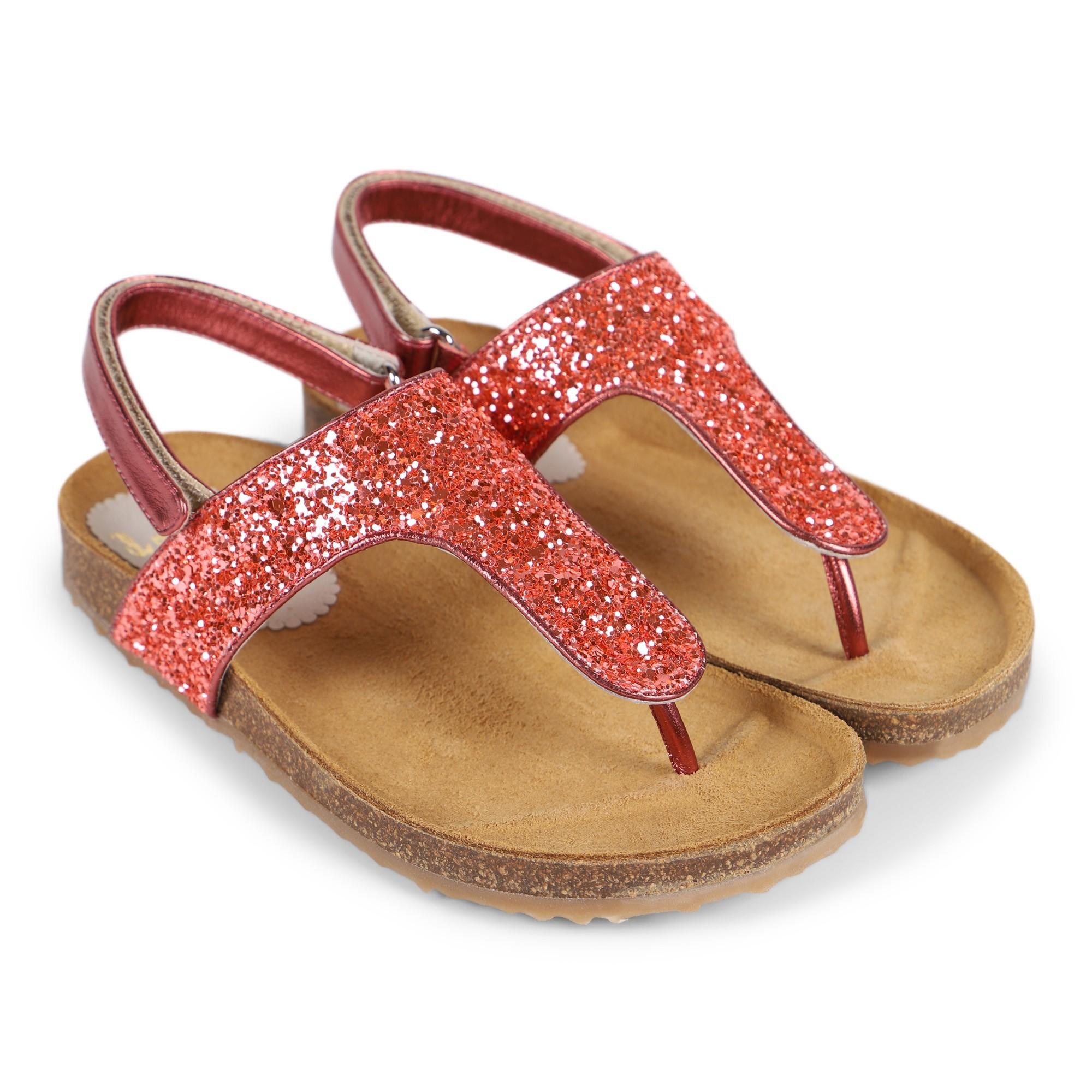 IL GUFO Girls Glitter Sandals in Pink