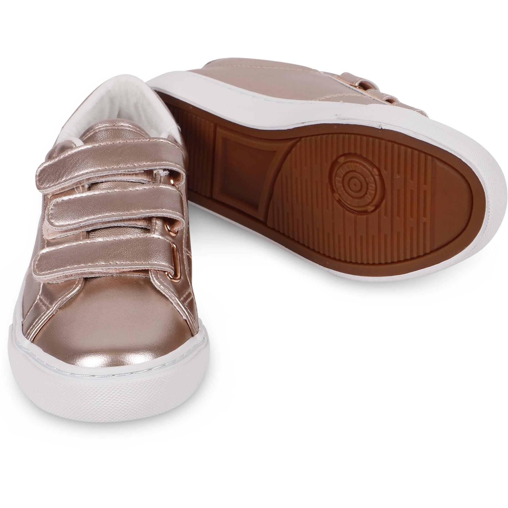 girls rose gold sneakers