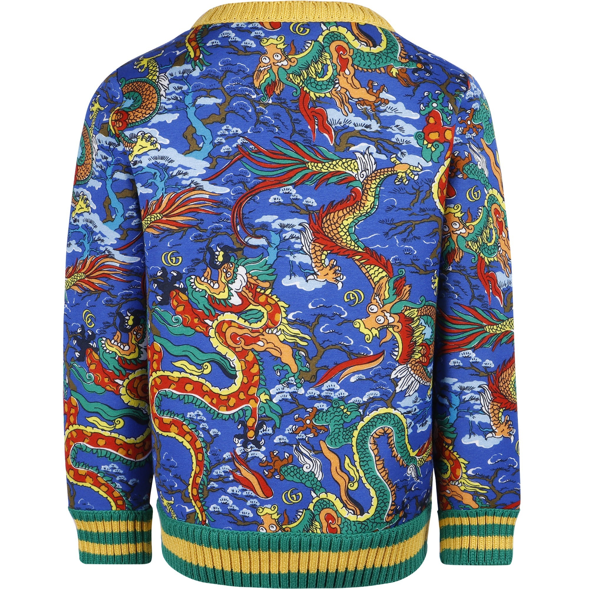 Gucci Baby Dragon Print Sweatshirt Bambini Fashion