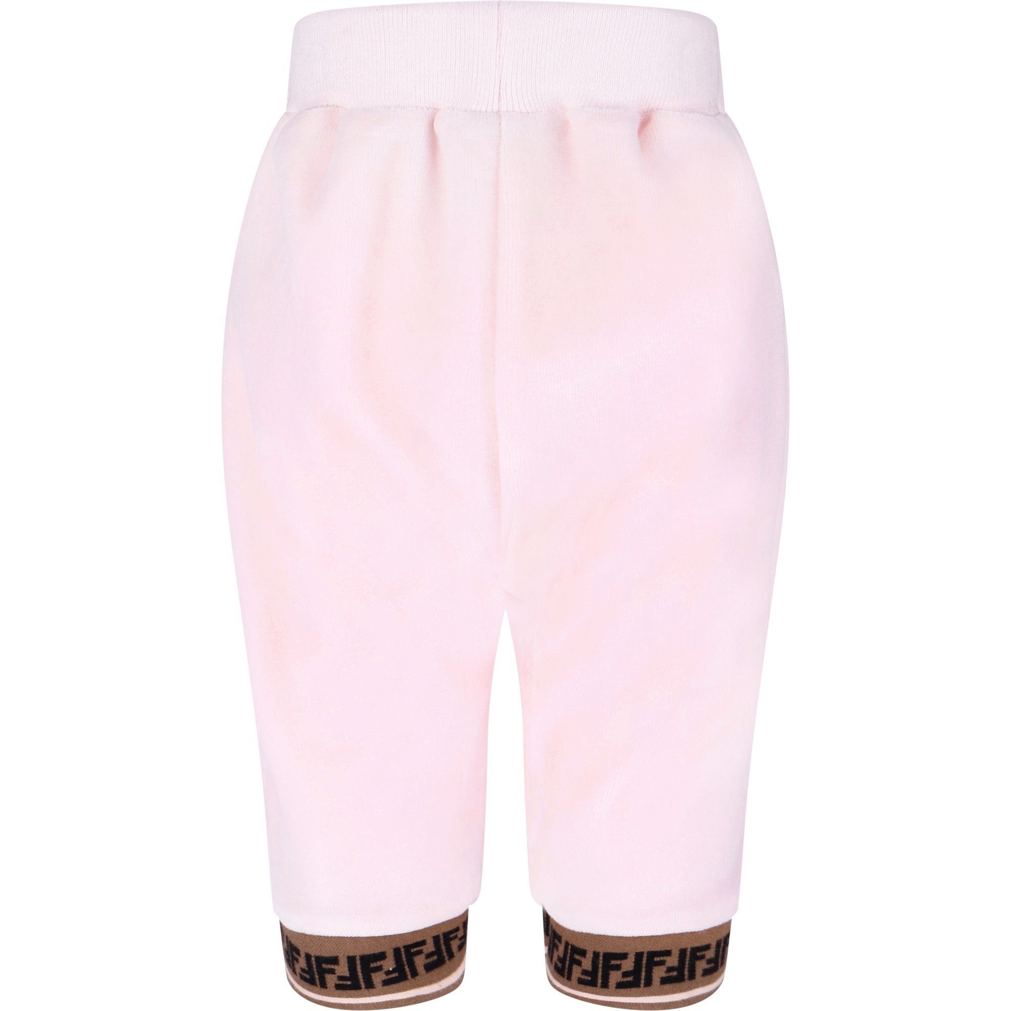 Fendi Baby Velour Tracksuit Pants In Pink Bambinifashion Com